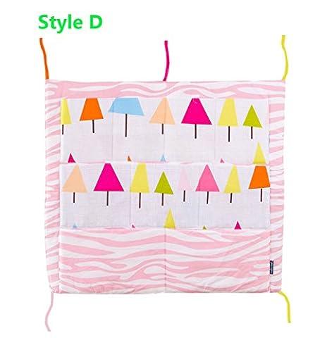 bstcentelha MULTILAYER Tasche Aufbewahrungstasche Organizer Babybett Kinderbett Windeln Spielzeug zum Aufhängen Tasche Aufbewahrungstasche