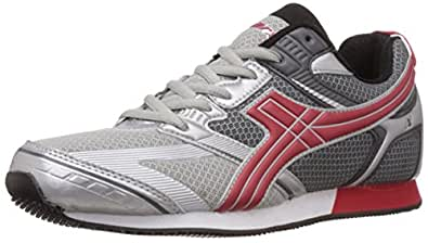Sparx Women's Grey and Red Mesh Running Shoes - 8 UK (SX0057L)