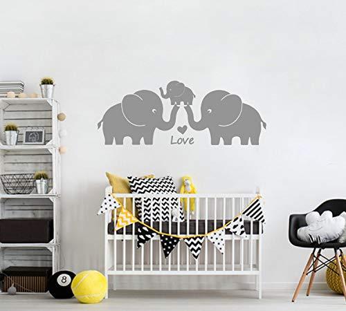 "BDECOLL lustig elefant wandtattoo-mit Spruch\""You are My Angel\"" Wandaufkleber Wandsticker- Wanddekoration Kinderzimmer-DIY Dekorativ Kunst Wandaufkleber (Grau)"