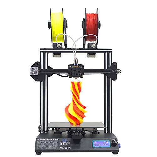 GEEETECH A20M Imprimante 3D avec impression Mix-Colore, base de bâtiment intégré, design double extrusion, Prusa I3 Montage...