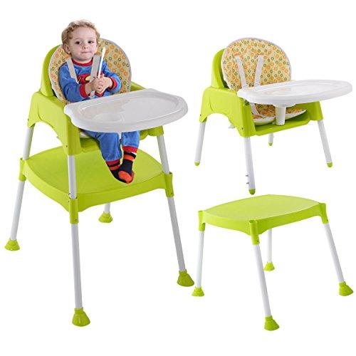 COSTWAY 3 IN 1 Kinderhochstuhl Hochstuhl Babystuhl Babyhochstuhl Multi Kombihochstuhl Treppenhochstuhl