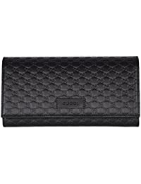 2c6aaac34a1b Gucci Women's Leather Micro GG Continental Bifold Wallet (449396 BMJ1G  2044/Brown)