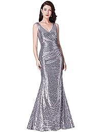 3c9355cc8d1d0 Ever Pretty Women's V Neck Floor Length Sleeveless Sequin Long Formal  Evening Dresses 07405