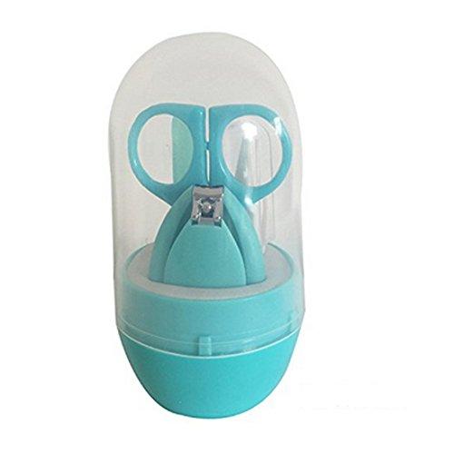VWH Babypflege Set,4 Stück Gesundheits und Pflegeartikel mit Nail Clipper,Nagelfeile, Schere Baby Alltag Pflege (grün)