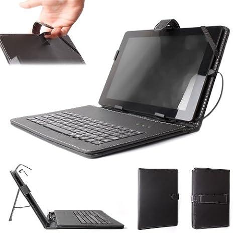 DURAGADGET Case With Micro USB Keyboard For Medion Lifetab E10310/E10320/E10318/E10311-MD99192
