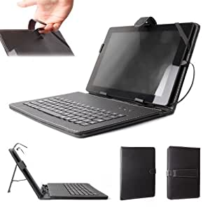 DURAGADGET Case With Micro USB Keyboard For Medion Lifetab E10310/E10320/E10318/E10311-MD99192 E10312 MD98486/E10315/E10316/E10317/S10333/ Cambridge Science StarPAD 4 & ISA ITA20 Android 4.2 Tablet