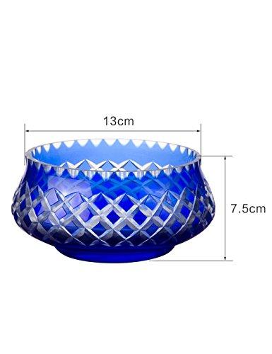 Creativo piatto di frutta piccola ciotola di insalata Ciotola di frutta casa Glass Fruttiera ( dimensioni : 13*7.5cm )