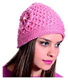 Just rider Latest Grey l Quality Soft and Warm Winter Woolen Cap for Women Girls Ladies