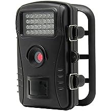 """Caméra de Chasse Surveillance Vidéo 70° LESHP avec Ecran LCD 2,4"""" HD Recorder Observation Imperméable Niveau Etanche IP54 Nature Animal 8MP 32Go SD Carte IR-CUT Vision Nocturne Camouflage"""
