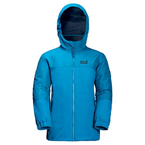 Jack Wolfskin Mädchen G Iceland 3-in-1 Jacket 3-in-1 Jacke, Icy Lake Blue, 176
