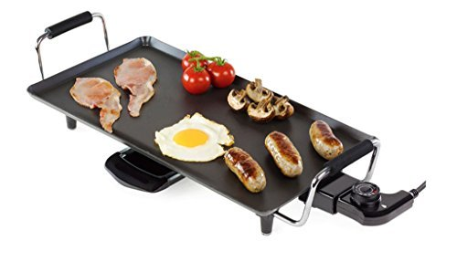 Teppan yaki Large 2000Watt Electric Kitchen Grill Pan Tray Griddle Barbecue BBQ