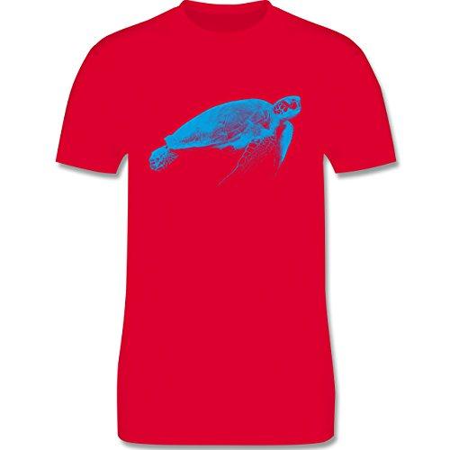 Sonstige Tiere - Wasserschildkröte - Herren Premium T-Shirt Rot