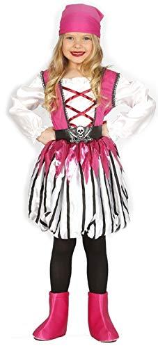 Mädchen Bösewichte Kostüm - Fancy Me Mädchen rosa Piraten Bösewicht See Prinzessin Kostüm Kleid Outfit 3-12 Jahre - Rosa, 5-6 Years