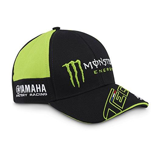 Monster Tech3 Herren 18T3M-Green-CP Baseball-Cap, Schwarz/Grün, Einheitsgröße