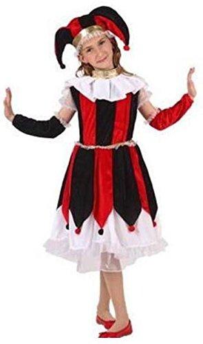 Atosa - Disfraz de bufón para niña, talla 10 - 12 años