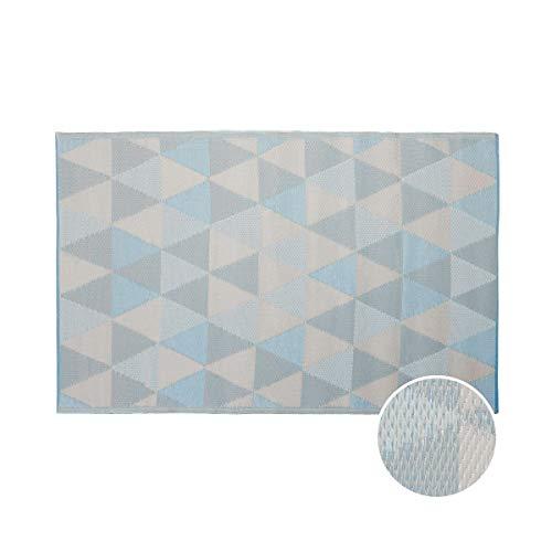 BUTLERS Colour Clash Outdoor Teppich Dreiecke 180x120cm - Bunter Flachgewebe Teppich für Innen- und Außenbereich