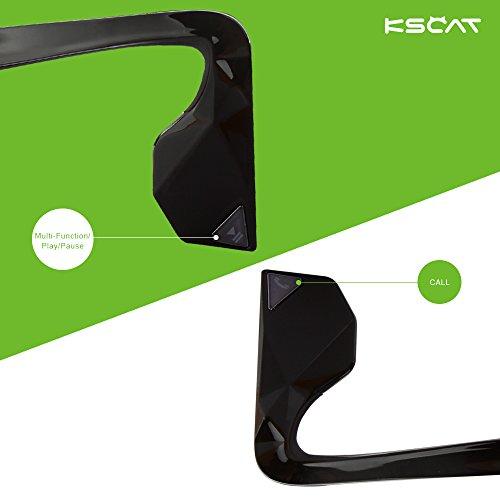 Kopfhörer Bluetooth 4.1 KSCAT Bone Conduction Ohrhörer Headphone Nice2 Sport Knochenleitung Knochenschall Wireless drahtlos Telefontaste Schwarz - 3