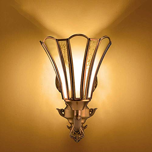 Zichen Moderne Innenwandleuchte AC90-265V Wandleuchte 1-Leuchten Beleuchtung Glas Laterne for Schlafzimmer Wohnzimmer Lesen E27 Edison Messing Wandleuchte Dekoration Leuchte -