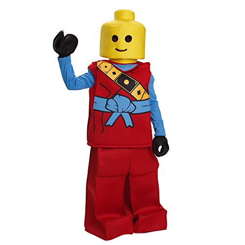 Dress Up America Halloween Kinder Lego Spielzeug Block Ninja Mann Kostüm Outfit rot