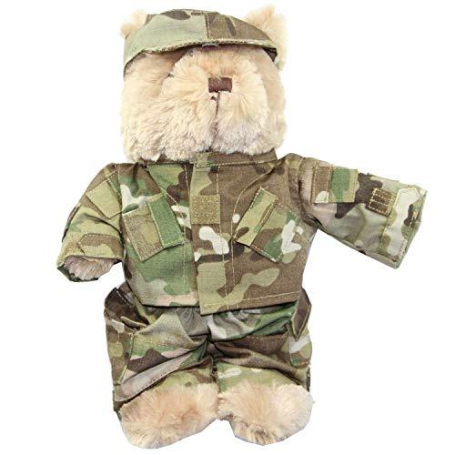 MIL-TEC  Teddy mit Anzug Farbe: multitarn / Multicam 29 cm Teddybär Bär Kuscheltier...