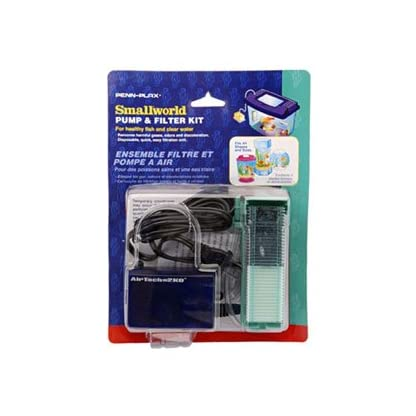 Small World Pump & Filter Kit - Filter Unit and Replacement Cartridge – For Healthy Fish and Clear Water 1