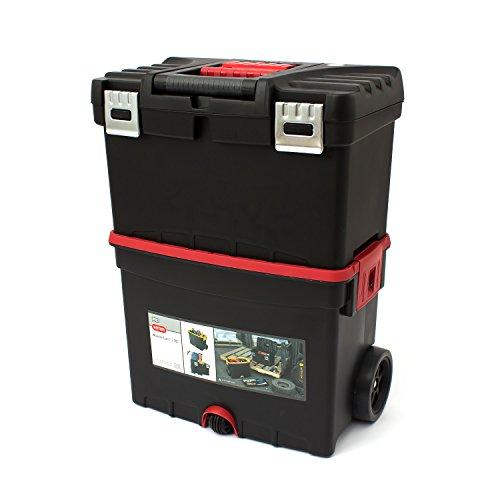 Keter 17186889 Werkzeugbox Pro Serie Mastercart metal latch, Kunststoff, Metallverschlüsse, schwarz / gelb