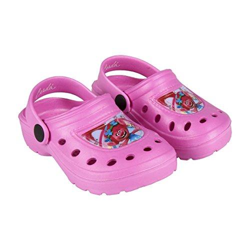 best loved 13aae cee43 takestop® Ciabatte Crocs Pantofole Mare Gomma Antiscivolo Comode Poppy  Trolls Beach Clogs Cartone Animato Piscina Mare Bambina Bambino Unisex  Fantasia ...