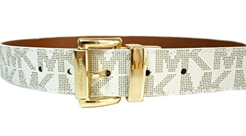 Michael Kors Vanilla/ Brown Signature Reversible Belt (S)