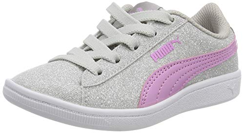 Puma Mädchen Vikky Glitz AC PS Sneaker, Silber Silver-Orchid 01, 29 EU