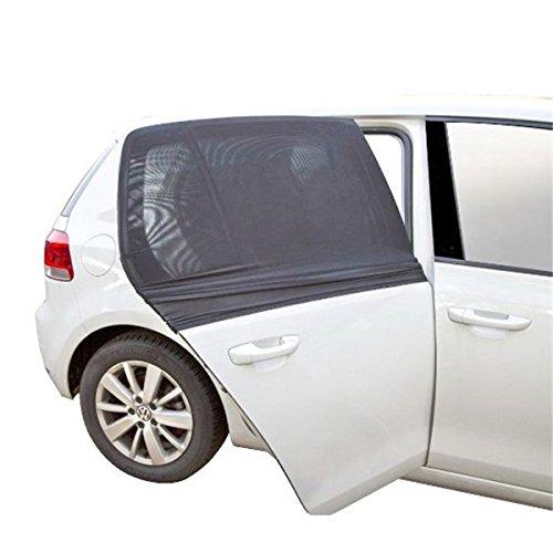 2 Stück Auto Fenster Sonnencreme Abdeckung Elastisch Auto Seite Glas Schatten Vorhänge Sommer Kühlung UV Schutz für Kinder
