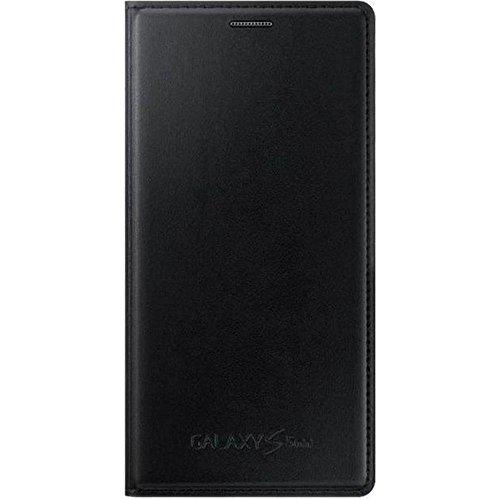 Samsung Flip Wallet Hülle Case Cover für Samsung Galaxy S5 Mini - Metallic Schwarz Video Game Cases Für Galaxy S5