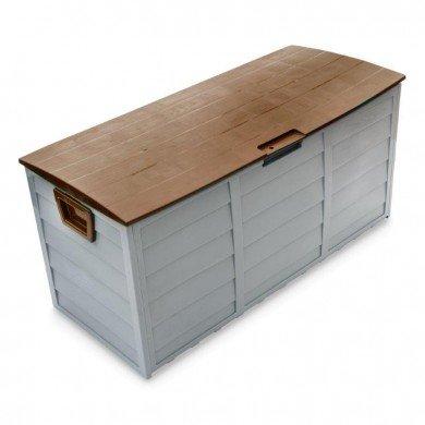 groundlevel.co.uk Weatherproof easy move XL garden storage box- Brown Lid
