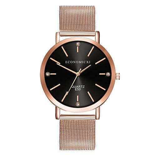 Hzing Classic Damen Armbanduhr, Frauen Geschenk Casual Analog Quarz mit mesh Edelstahl Kleid Uhr Watch Damenuhr Mädchenuhr
