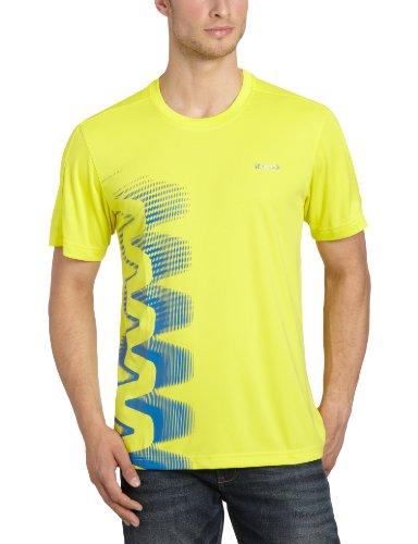 Reebok Zig Tech X1517 - Maglietta a maniche corte da uomo, per sport o da indossare tutti i giorni, Giallo (sun rock s12), M Giallo - sun rock s12