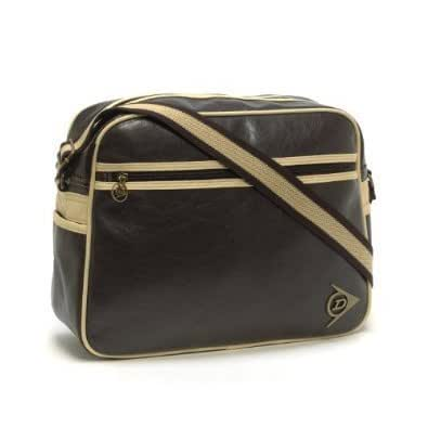 Dunlop Shoulder Flight Bag - Distressed Brown / Cream