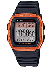 Casio Digital Orange Dial Unisex's Watch-W-96H-4A2VDF (D177)