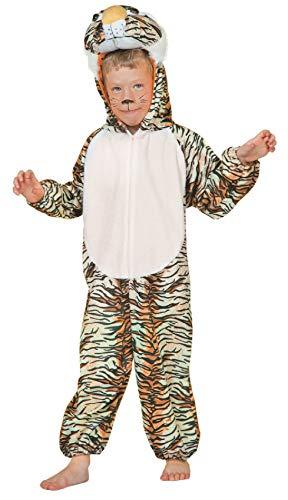 narrenkiste W99301-152 Kinder Tiger Kostüm Katze Raubkatze Raubtier Overall ()