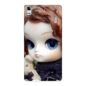 Delighted Hugging Teddy Doll Multicolor Back Case Cover for Lenovo A7000
