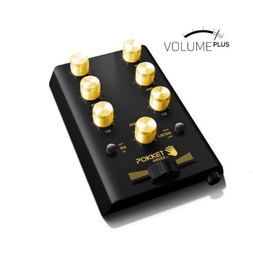 Pokketmixer Volume Plus - Der Mini DJ Mixer - Ganz Ohne Strom Und Trotzdem Gefühlt Doppelt So Laut plus 10 db (schwarz-gold)
