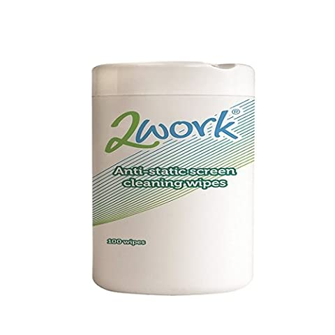 2Work Anti-Static Screen Cleaning Wipes (Pack of 100) DB57099