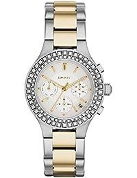 DKNY ny2260 - Reloj de cuarzo para mujer, correa de acero inoxidable chapado multicolor