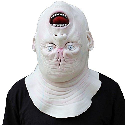 OULII Horror Latex Maske Gruselige Maske für Halloween Party (Gruselige Halloween Maske)
