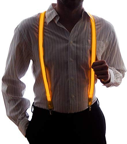 NEON NIGHTLIFE Männer leuchten LED Strapse, - Neon Mann Kostüm