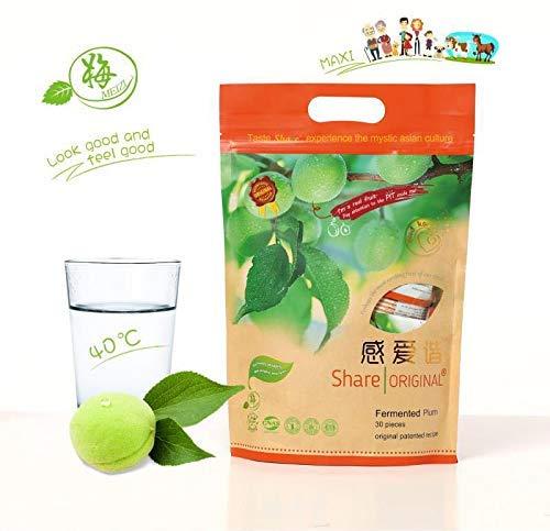 Share Original - fermentierte mit Kräutern ummantelte grüne Pflaume - 30 Stück - Pflaume-extrakt Grüne