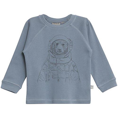 Wheat Baby-Jungen Langarmshirt Spaceman Organic Cotton, Blau (Blue 2), 86 (Herstellergröße: 18m)