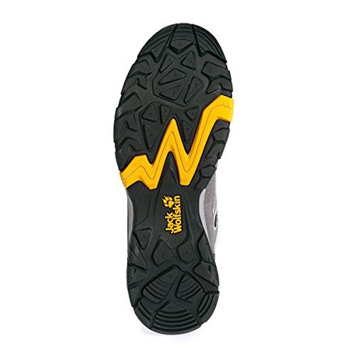 Jack Wolfskin Herren Mtn Attack 5 Low M Trekking-& Wanderhalbschuhe grau/gelb