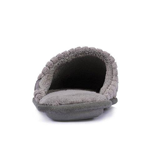 Flache Herren-Pantoffeln Isotoner Gris