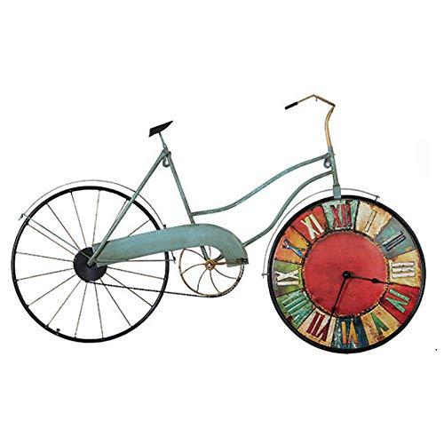 XBR Vintage Fahrrad Wanduhr 81 * 51 * 31 cm Wecker mit Nachtlicht im Retro-Stil, batteriebetrieben,...