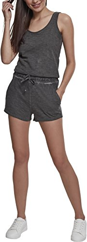 Urban Classics Damen Ladies Cold Dye Short Jumpsuit, Grau (Grey 00111), X-Small (Herstellergröße: XS)