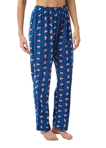 i-Smalls Frauen Snuggly Warm Fleece Pyjama Hose (10-12) Navy Scotty - Fleece Pyjama-hosen